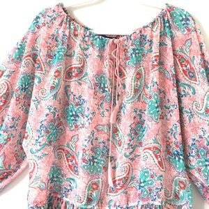 Moda International Tops - Moda International | Pink Paisley Peplum Top